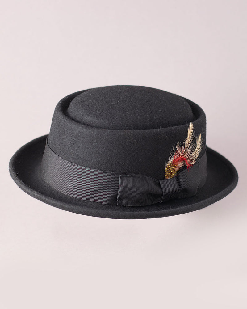 MAZ M.A.Z, Crushable Pork Pie Hat, Black - Pick Up - Dusseldorf