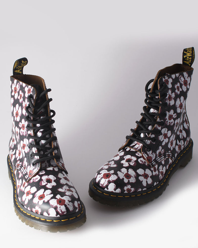 Dr. Martens, 1460 PASCAL BLACK RED PANSY FAYER VINTAGE SMOOTH