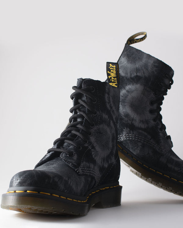 Dr. Martens Dr. Martens, 1460 Pascal Shell Black/Charcoal Grey Tie Dye - Pick Up - Dusseldorf