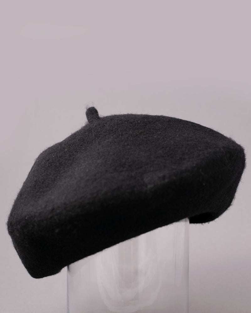 MAZ M.A.Z, 100% Pure Wool Beret OZ, Black - Pick Up - Dusseldorf