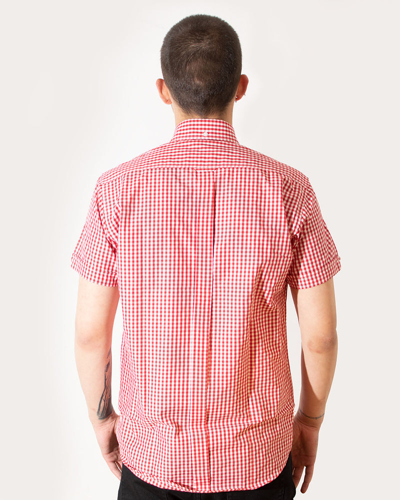 Relco RELCO LONDON, Vintage Shirt, Gingham Print, Red - Pick Up - Dusseldorf
