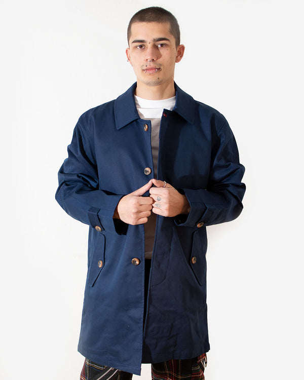 HOXTON HOXTON, MAC COAT, NAVY - Pick Up - Dusseldorf
