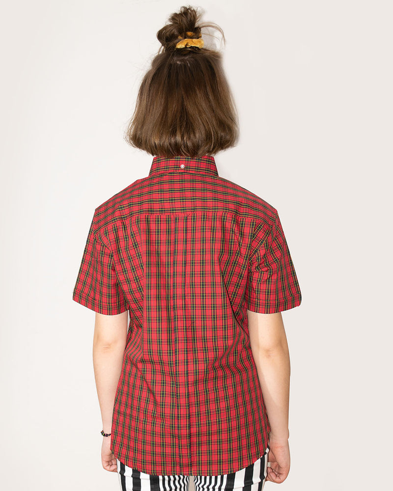 Relco RELCO LONDON, Ladies Red Tartan check shirt - Pick Up - Dusseldorf