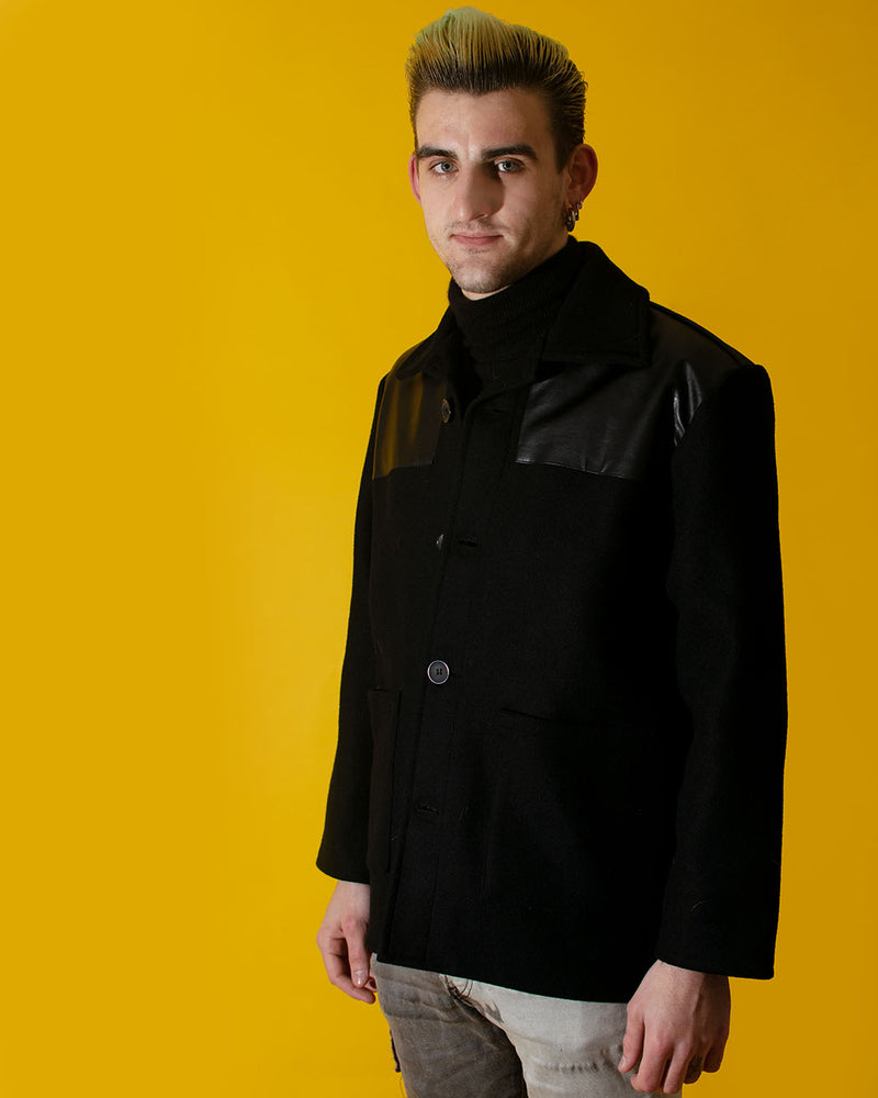 Relco RELCO LONDON, Donkey Jacket with PVC, Black - Pick Up - Dusseldorf