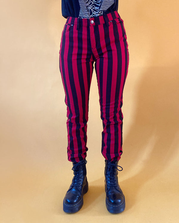 RUN & FLY Run & Fly, Wide Striped Skinny Jeans, UNISEX - Pick Up - Dusseldorf