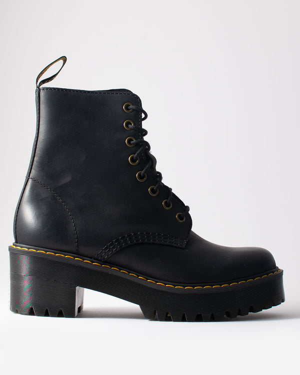Dr. Martens Dr. Martens, Shriver Hi Black Burnished Wyoming - Pick Up - Dusseldorf