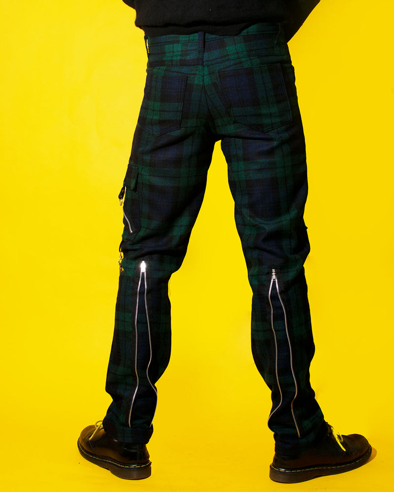 Tiger of London Tiger of London, Zip Bondage Tartan Pant, Green - Pick Up - Dusseldorf