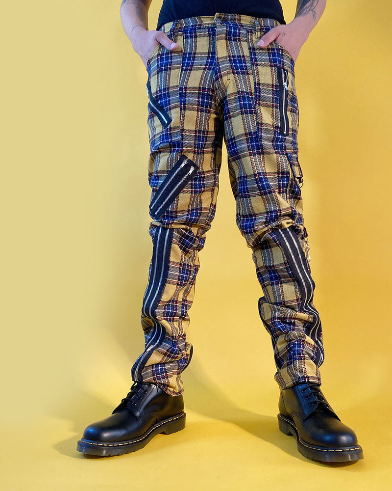 Tiger of London Tiger of London, Zip Bondage Tartan Pant, Yellow - Pick Up - Dusseldorf