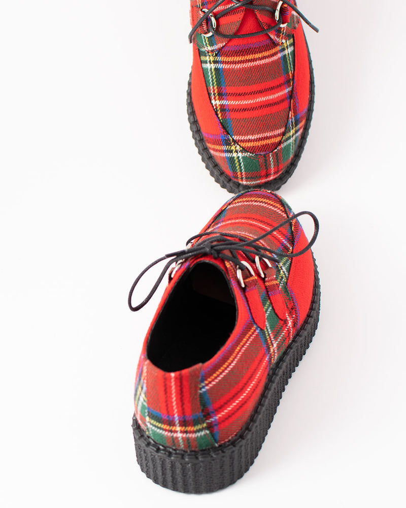 BBC BBC, UL 49, Creeper leather shoe, red tartan, Haley - Pick Up - Dusseldorf