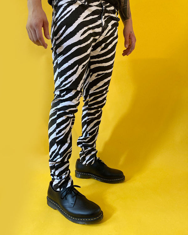 RUN & FLY Run & Fly, Zebra Skinny Jeans, Black/White, SE JM1149 - Pick Up - Dusseldorf