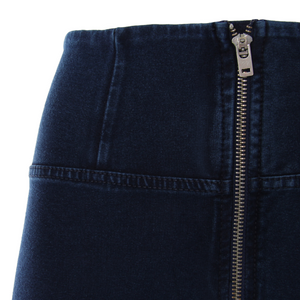 DARK DENIM BLUE STITCH HIGH RISE