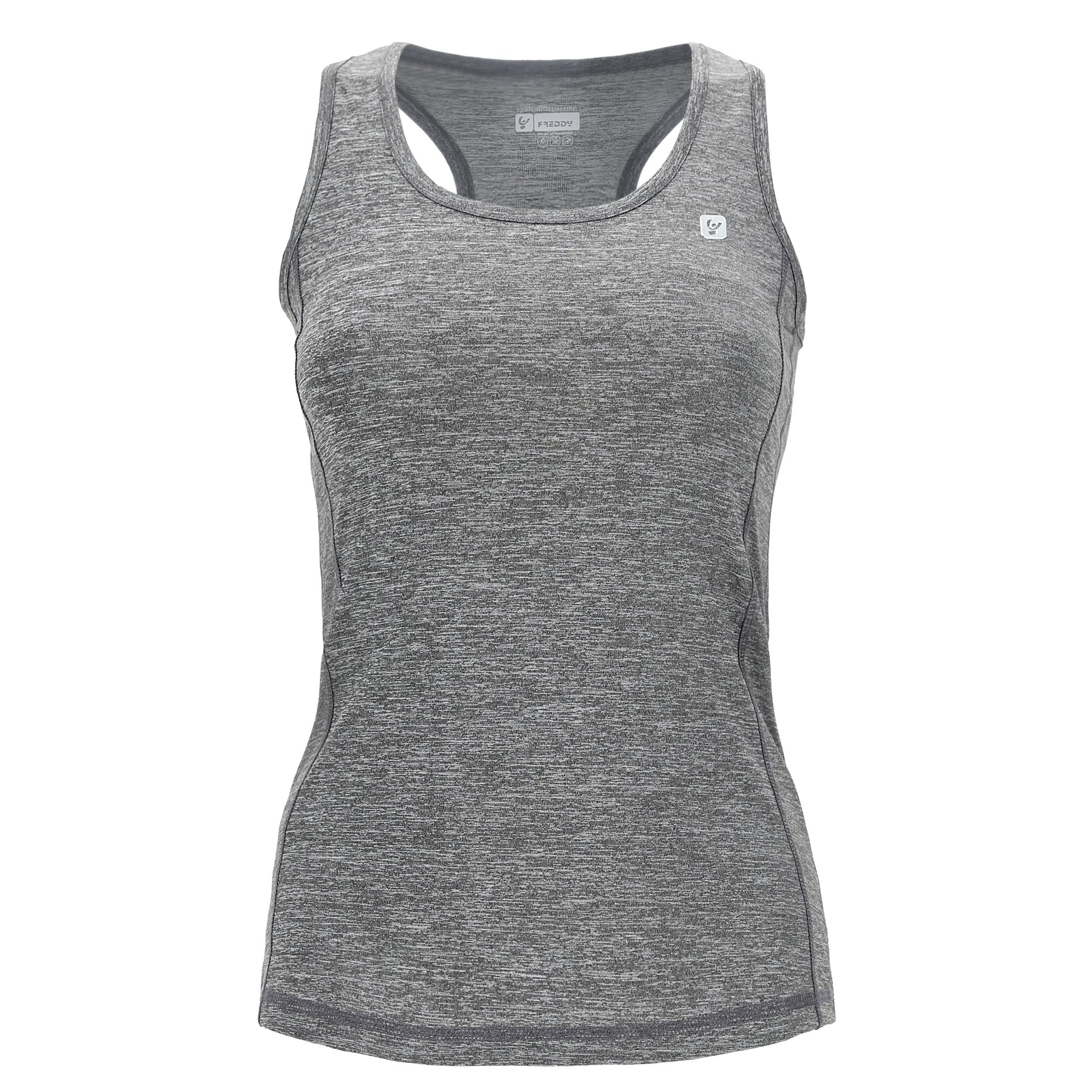 MELANGE GREY TANK TOP