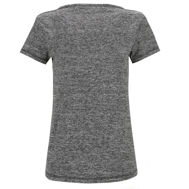 MELANGE GREY ACTIVE SHORT SLEEVE TSHIRT