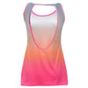 D.I.W.O.® TANK TOP WITH ALL-OVER DÉGRADÉ PRINT AND BACK CUTOUT