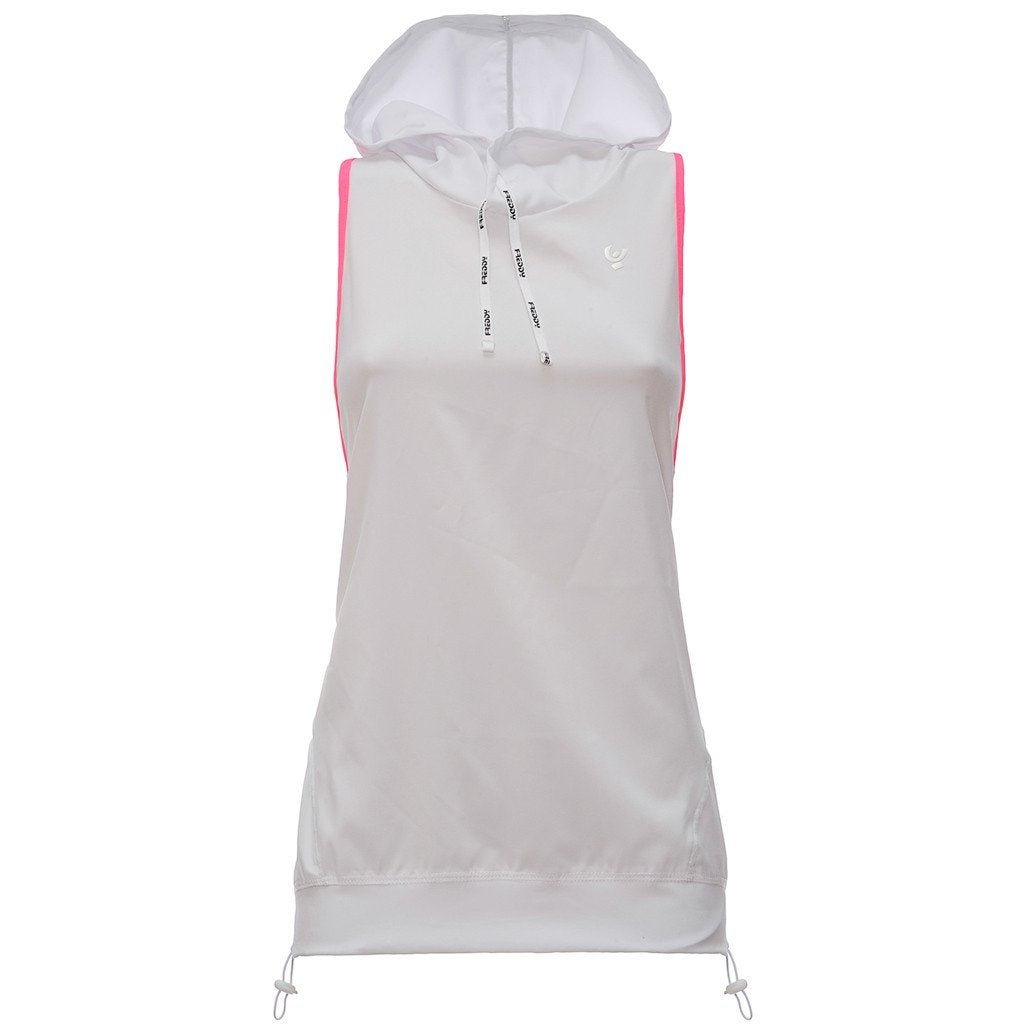 SLEEVELESS CONTRAST TOP WHITE PINK