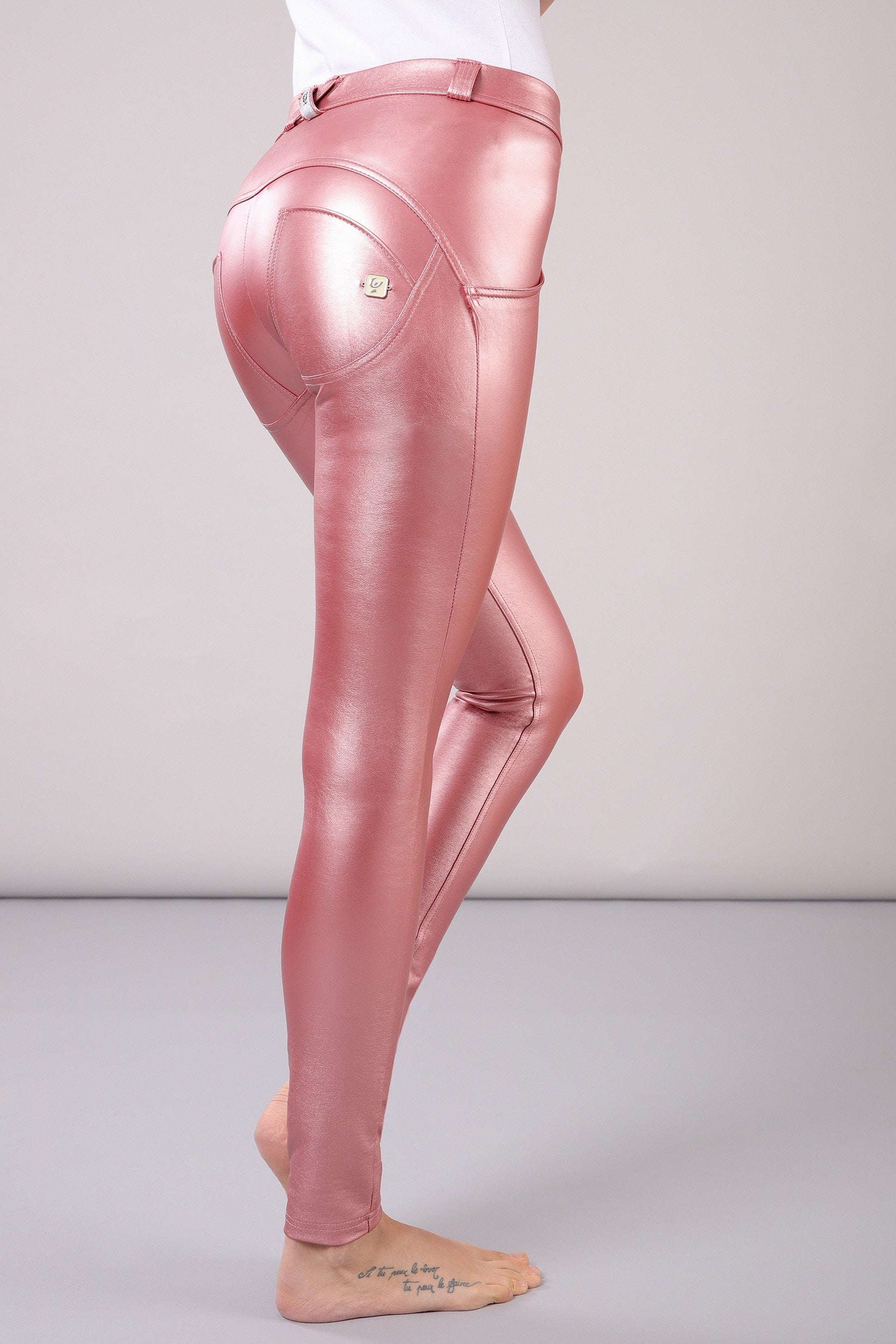 749adc962d968 METALLIC PINK SKINNY MID RISE