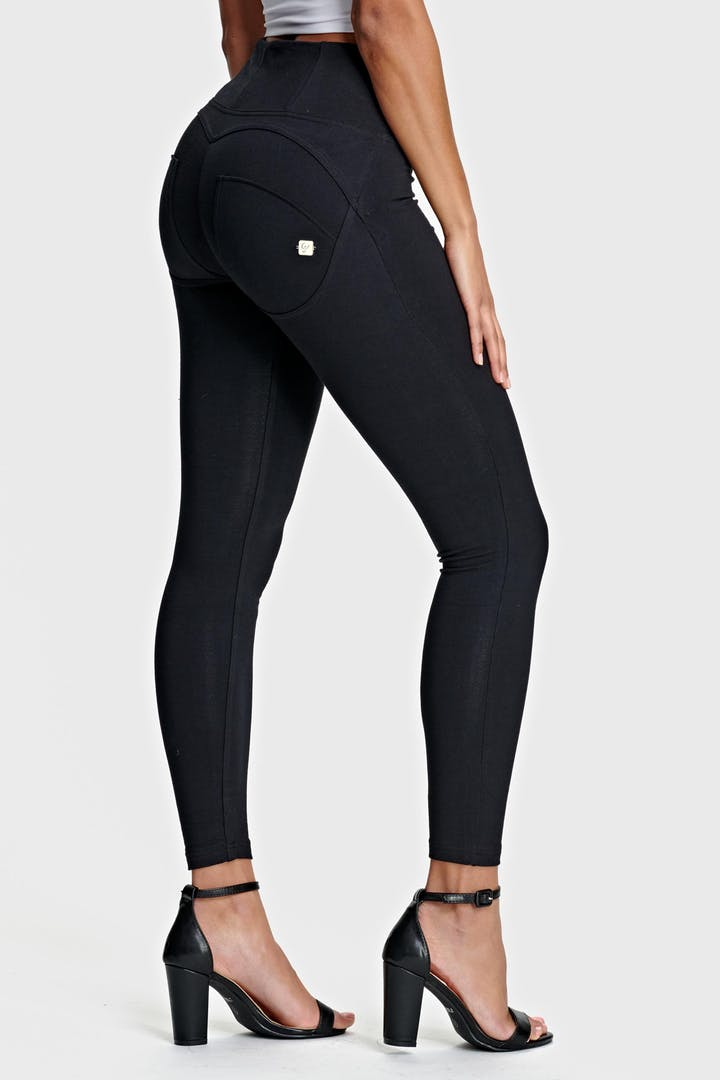 ANKLE LEG BLACK HIGH WAIST SELF TONE ZIP