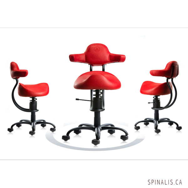 SpinaliS Canada Rodeo Series Chair Red Color - Spinalis Chairs Canada