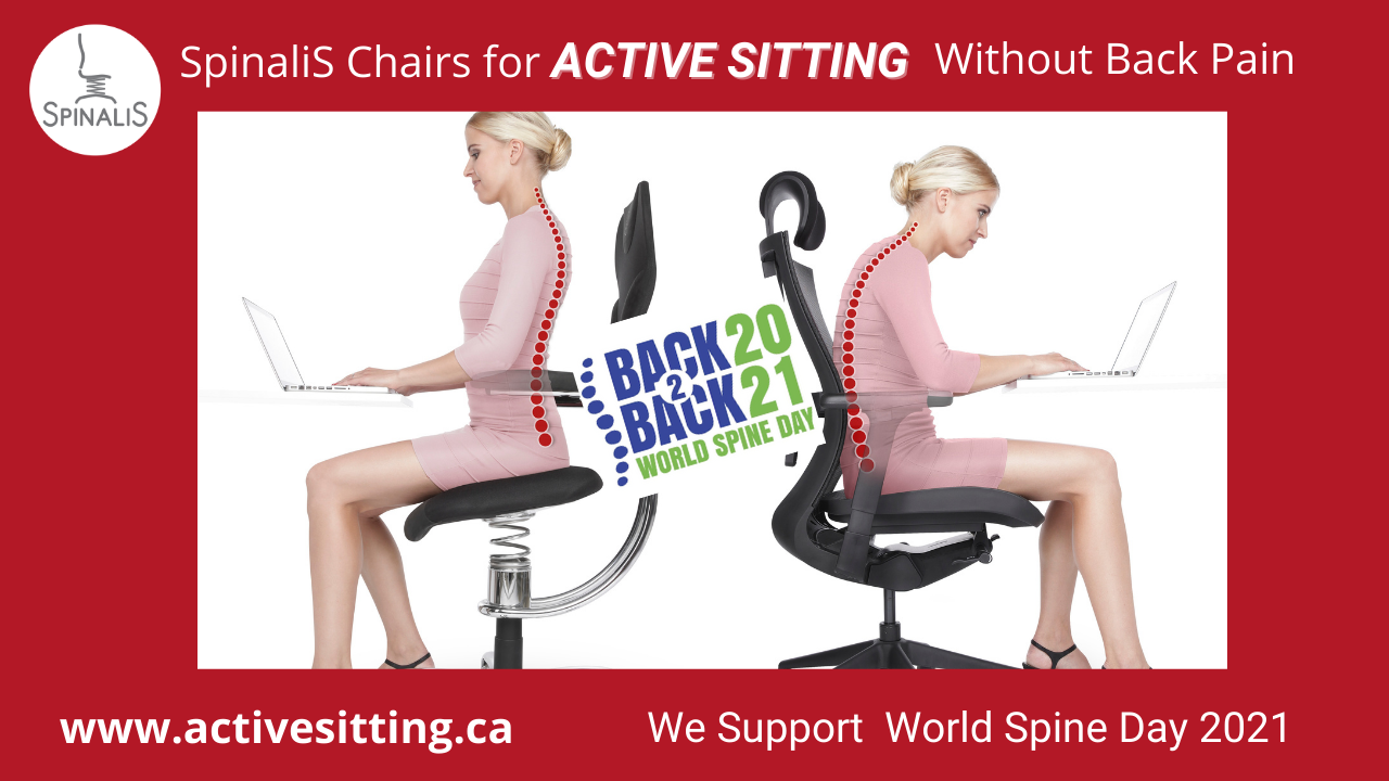SpinaliS Chairs for Sitting WIthout Back Pain Supports World Spine Day