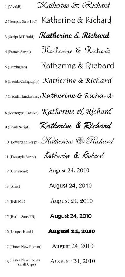 Font Examples The Maryland Store