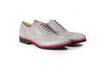 2017 Men's Grey & Red Brogue Wingtip