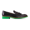 2017 Men's Black & Green Tassel Loafer