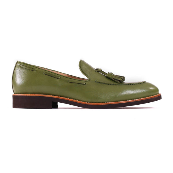 2017 Men's Green & Brown Tassel Loafer