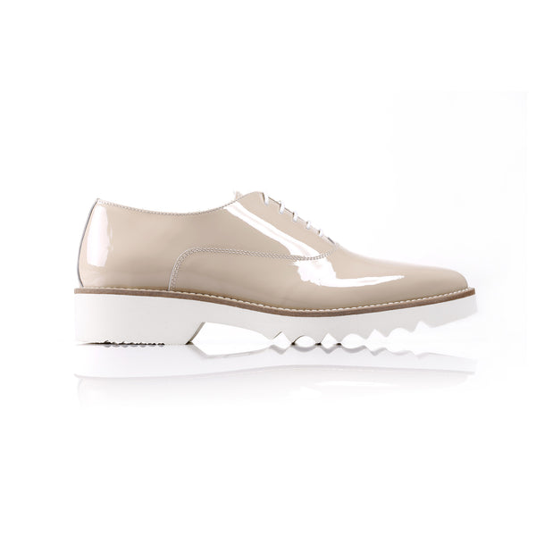2017 Women's Nude Patent Lace Up