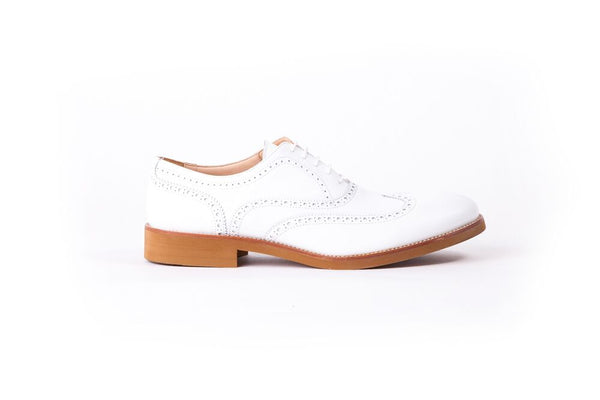 MEN'S WHITE & TAN WINGTIP ON CAMEL SOLE