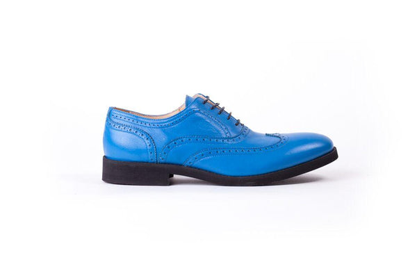 Men's Blue & Black Brogue Wingtip (EX- 120)