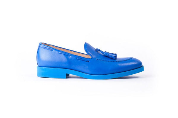 Men's Blue Tassel Loafer with Blue Azul Sole (EX-156)