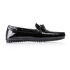 2017 Men's Black Patent Leather Driver Mocassin