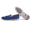2017 Men's Suede Royal Blue & Grey Tassel Loafer