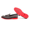 Men's Grey & Red Tassel Loafer