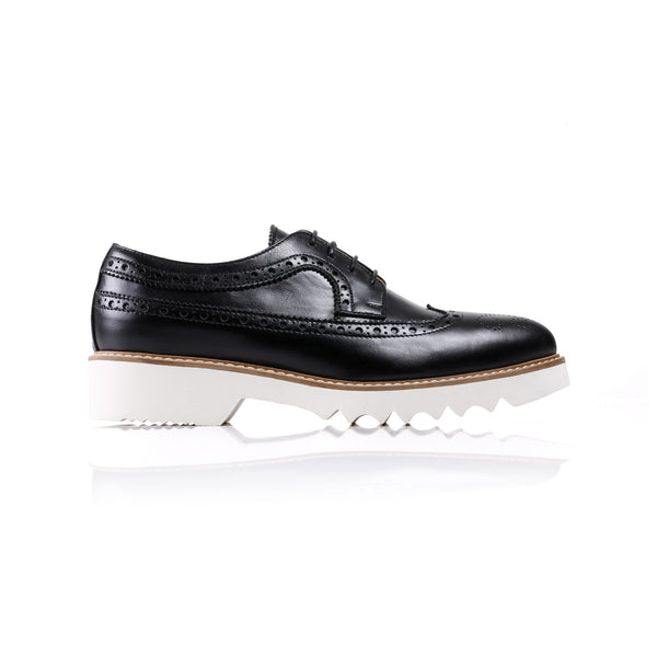 2017 Women's Black Brogue Wingtip