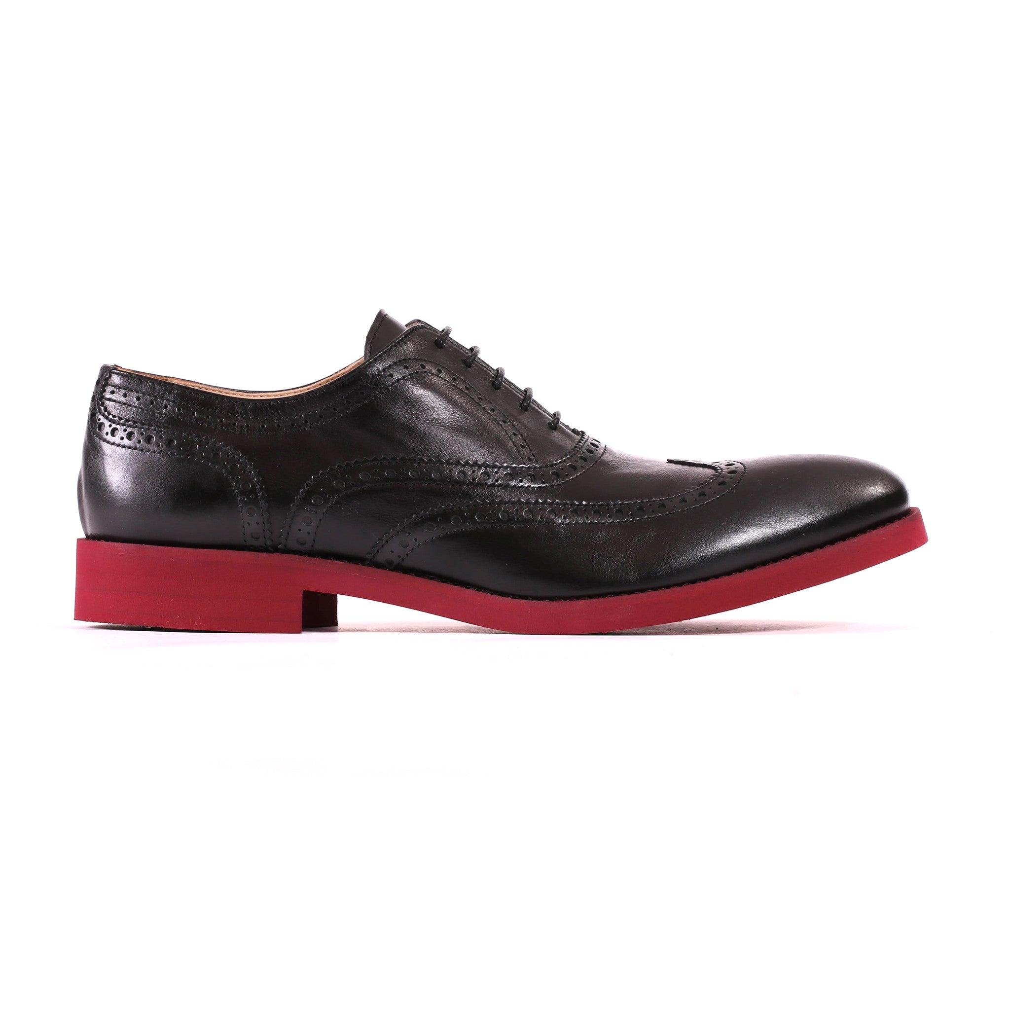Black & Oxblood Brogue Wingtip