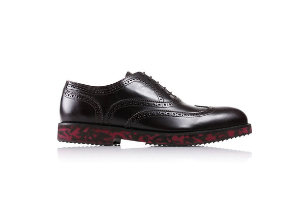 2017 Men's Dark Brown & Red Kamo Wingtip