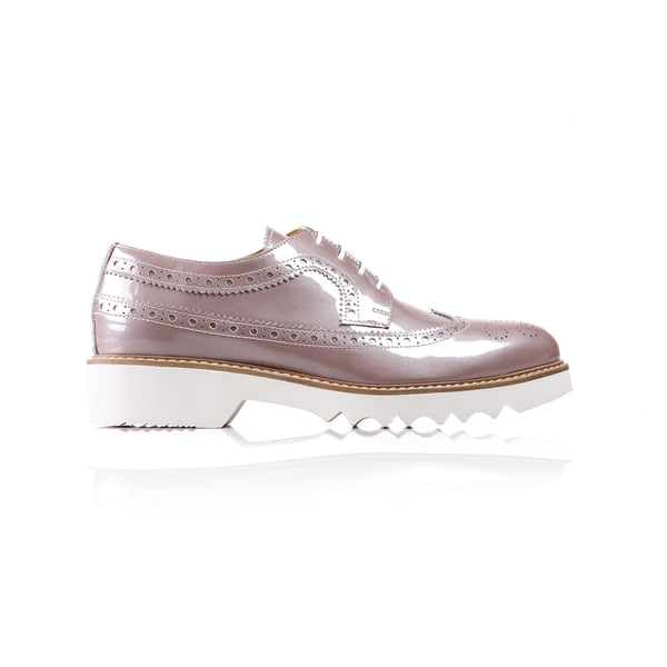 2017 Women's Mauve Patent Brogue Wingtip