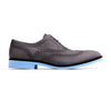 2017 Men's Grey Nabuck, Black accented Brogue Wingtip on Sky Blue Sole