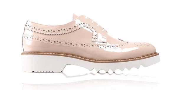 Women's Patent Pastel Purple & Tan Brogue Wingtip. EX-351 (2017)