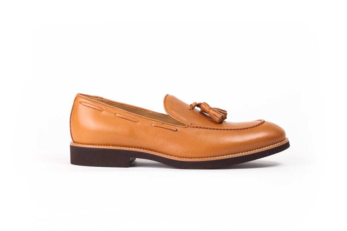 2017 Men's Tan & Brown Tassel Loafer