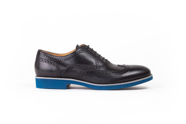 2017 Men's Black & Navy  Azul Sole Brogue Wingtip.