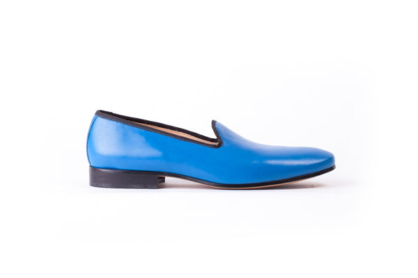 Men's Blue Slip-On with Leather Sole(EX-136)