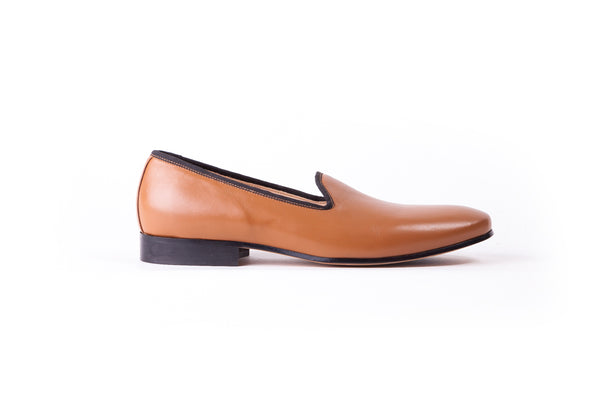 Men's Tan Slip-On with Leather Sole (EX-138)