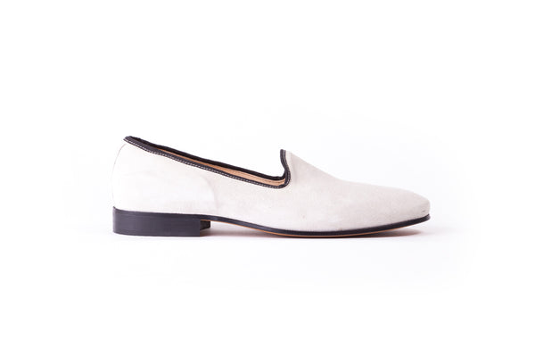 Men's Beige Slip-On With Leather Sole (EX-140)
