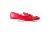 Men's Red & Tan Accented Tassel Loafer with  White Sole (EX-142)