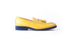 Men's Yellow & Blue Tassel Loafer ( EX-143)