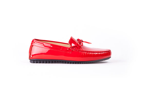 Men's Red Patent Driver Mocassin (EX-184)