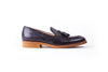 Men's Black & Tan Accented Tassel Loafer with Brown Sole (EX-145)