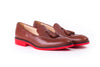 Men's Brown Tassel Loafer with Red Sole (EX-148)